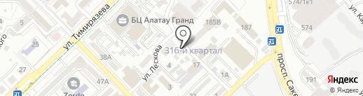 Акшабай на карте Алматы