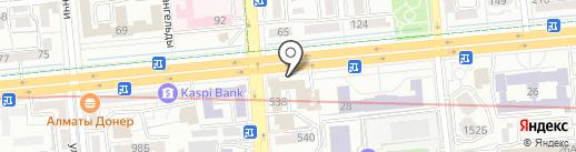 Самарский здоровяк на карте Алматы