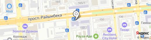 Колледж индустрии туризма и гостеприимства на карте Алматы