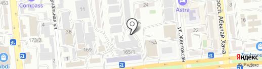 CompTek CA, ТОО на карте Алматы