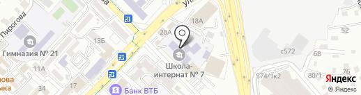 Специальная (коррекционная) школа-интернат №7 для детей с интеллектуальными нарушениями развития на карте Алматы