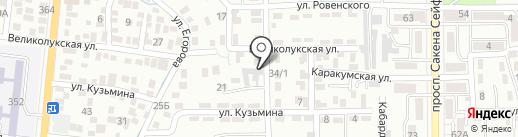 Квингруп на карте Алматы