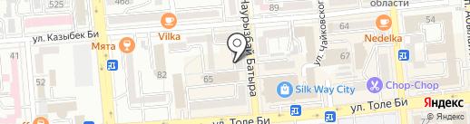 КЕНЕС-Тур на карте Алматы