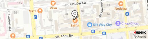 Джанна на карте Алматы