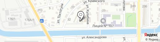 Наклейфон Казахстан на карте Алматы