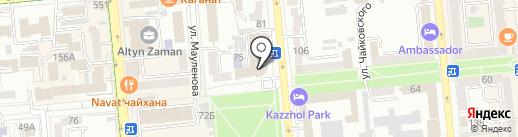 Государственный Республиканский уйгурский театр музыкальной комедии им. К. Кужамьярова на карте Алматы