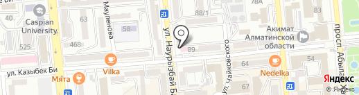 Здравная чаша на карте Алматы