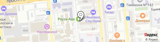 Азия Моторс на карте Алматы