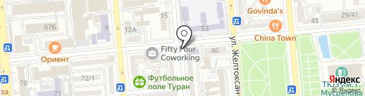 Евразийский научно-исследовательский институт на карте Алматы