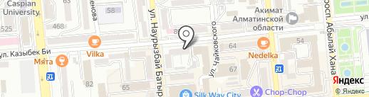 Алмалы, КСК на карте Алматы