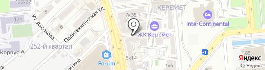 Керемет Кызмет, КСК на карте Алматы