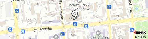 Glance на карте Алматы