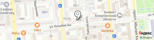 Зелёный чулок на карте Алматы