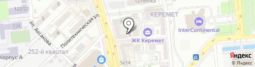 Изостудия на карте Алматы