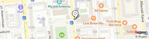 Ларисс Иванну Хачу на карте Алматы