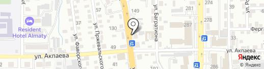 На Белинского на карте Алматы