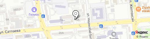 Нотариус Байтурганова А.Б. на карте Алматы