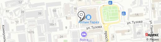 Алтын Тараз на карте Алматы