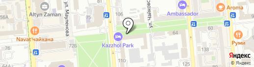 Нотариус Ержанова А.Д. на карте Алматы