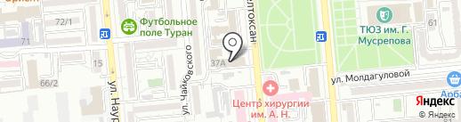 Инвест Капитол на карте Алматы