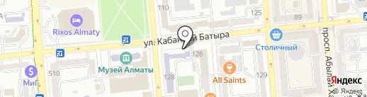 Гимназия №25 им. И. Есенберлина на карте Алматы
