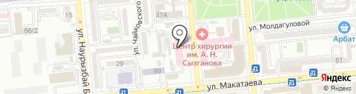 КВМ на карте Алматы