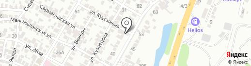 Яшлык на карте Алматы