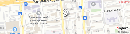 На Мира на карте Алматы