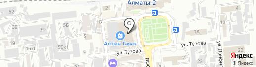 Три Самурая на карте Алматы