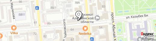 Домик с блинами на карте Алматы