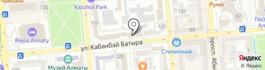 Отдел миграционной полиции УВД Медеуского района г. Алматы на карте Алматы