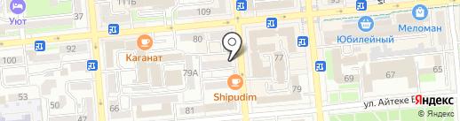 77 на карте Алматы