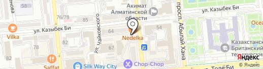 Славянка Тур Казахстан на карте Алматы
