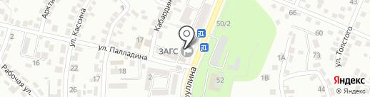 Турксибский районный отдел РАГС на карте Алматы