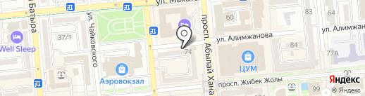 Нотариус Рамазанова Ж.Т. на карте Алматы