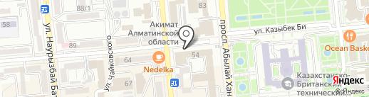 Управление государственных доходов по Алмалинскому району на карте Алматы