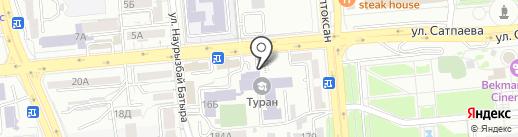 Игра на карте Алматы