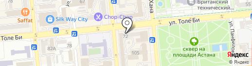 Мер-Нур на карте Алматы