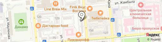 Кара Гюрла на карте Алматы