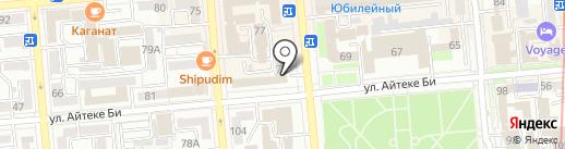 Нур Отан на карте Алматы