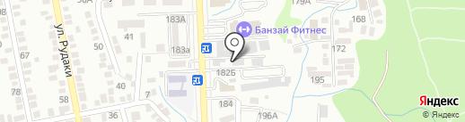 Станция технического осмотра на карте Алматы
