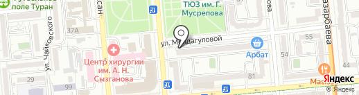 Мега Интеллект на карте Алматы