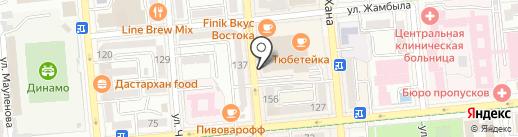 Царская на карте Алматы