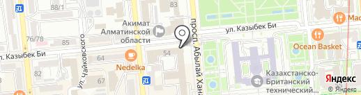 ТаунМанас на карте Алматы