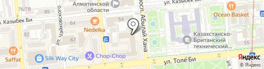 Пункт почтовой связи №5 на карте Алматы