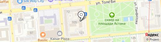 Dostik Travel на карте Алматы