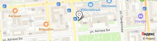 Совет ветеранов Алмалинского района на карте Алматы