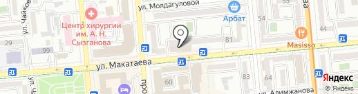 Сеть салонов сотовых телефонов и аксессуаров на карте Алматы
