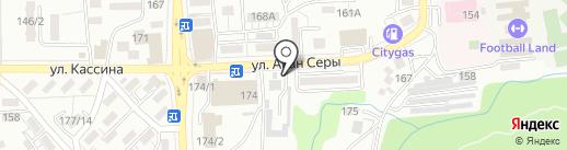 Шиномонтажный салон на карте Алматы