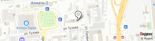 Спорткомплекс на карте Алматы